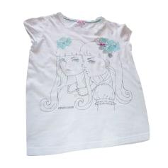Top, T-shirt ROBERTO CAVALLI JUNIOR White, off-white, ecru