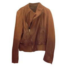 Leather Jacket ZARA Brown