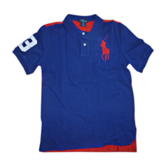 Poloshirt RALPH LAUREN bleu et rouge