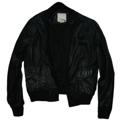 Leather Zipped Jacket LEVI'S Black