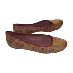 Sandales plates  ALAÏA Beige, camel