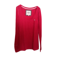 Top, tee-shirt ABERCROMBIE & FITCH Rouge, bordeaux