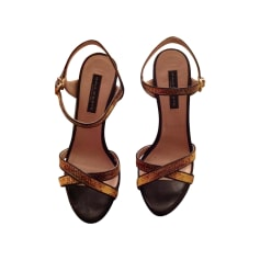 Sandales à talons  GAIA D'ESTE Noir
