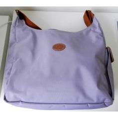 Sac en bandoulière en tissu LONGCHAMP Violet, mauve, lavande