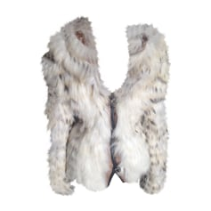 Fur Jackets JUST CAVALLI White, off-white, ecru