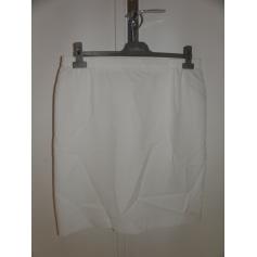 Jupe mi-longue MARCELLE GRIFFON Blanc, blanc cassé, écru