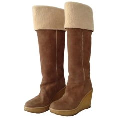Wedge Boots MINELLI Beige, camel