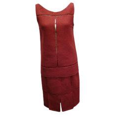 Tailleur jupe PRADA Rouge, bordeaux