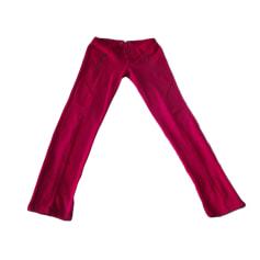 Pantalon slim, cigarette BERSHKA Rouge, bordeaux