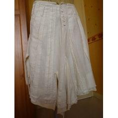 Jupe mi-longue DESIGUAL Blanc, blanc cassé, écru