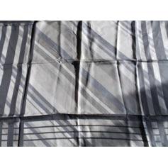 Silk Scarf PIERRE BALMAIN gris et blanc