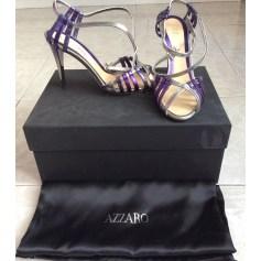 Sandales à talons AZZARO Argenté, acier