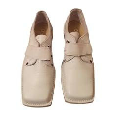 Chaussures à scratch KICKERS Blanc, blanc cassé, écru