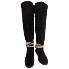 Thigh High Boots ANTIK BATIK Black