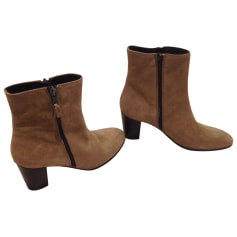 High Heel Ankle Boots MINELLI Beige, camel
