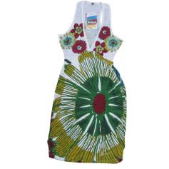 Mini-Kleid DESIGUAL Weiß, elfenbeinfarben