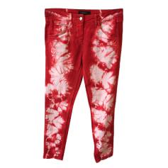Jeans slim ISABEL MARANT Rouge, bordeaux