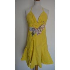 Backless Dress DESIGUAL Yellow