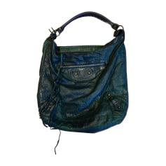 Leather Handbag BALENCIAGA Day Green