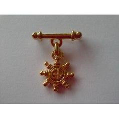 Broche GUY LAROCHE Doré, bronze, cuivre