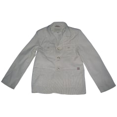 Jacket BURBERRY White, off-white, ecru