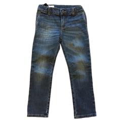 Jeans dritto GUCCI Blu, blu navy, turchese