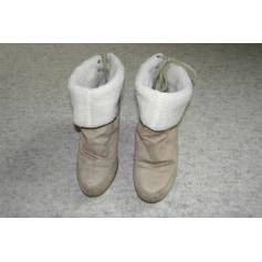 Bottines & low boots à compensés NEW LOOK Blanc, blanc cassé, écru