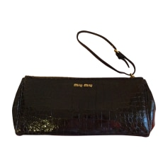 Pochette in pelle MIU MIU Marrone