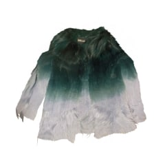 Fur Jackets JUST CAVALLI Green