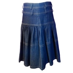 Jupe mi-longue DIOR Bleu, bleu marine, bleu turquoise