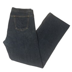 Jeans dritto YVES SAINT LAURENT Blu, blu navy, turchese