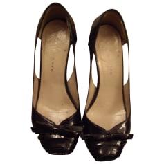 Sandales compensées  GAIA D'ESTE Noir