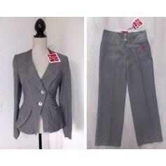 Tailleur pantalon AVENTURES DES TOILES Gris, anthracite