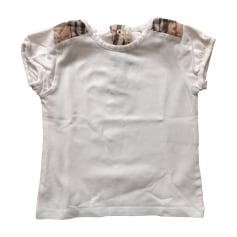 Top, T-shirt BURBERRY White, off-white, ecru