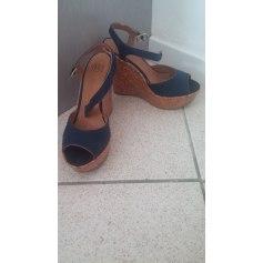 Sandales compensées BAGATT Bleu, bleu marine, bleu turquoise