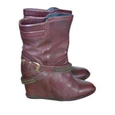 Bottines & low boots à compensés VELVETINE Rouge, bordeaux