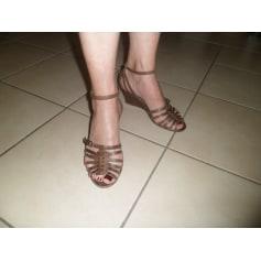 Sandales compensées PASTELLE Marron