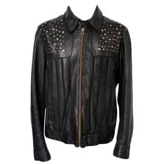 Leather Zipped Jacket HUGO BOSS Black