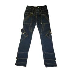 Jeans droit ANTONIO BERARDI Bleu, bleu marine, bleu turquoise