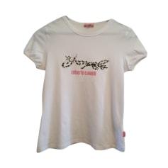 Top, T-shirt ROBERTO CAVALLI White, off-white, ecru