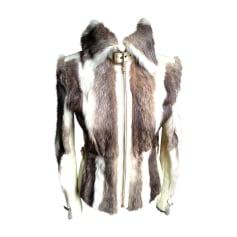 Fur Jackets DOLCE & GABBANA White, off-white, ecru