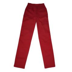 Pantalon slim, cigarette FENDI Rouge, bordeaux