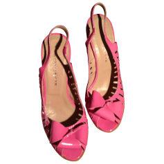 Sandales compensées  GAIA D'ESTE Rose, fuschia, vieux rose