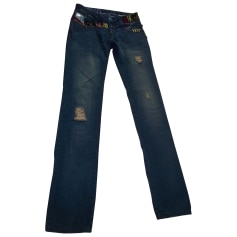 Skinny Jeans DESIGUAL Blue, navy, turquoise