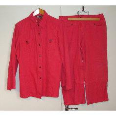 Tailleur pantalon BLEU DE SYM Rouge, bordeaux