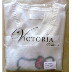 Top, tee-shirt HELLO KITTY BY VICTORIA COUTURE Blanc, blanc cassé, écru