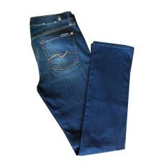Jeans droit 7 FOR ALL MANKIND Bleu, bleu marine, bleu turquoise