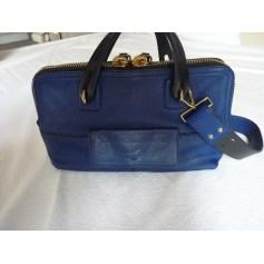 Sac à main en cuir ANDREA MABIANI Bleu, bleu marine, bleu turquoise