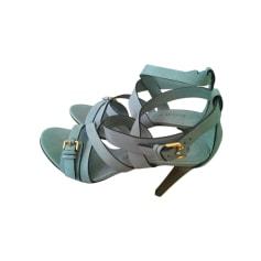 Heeled Sandals BURBERRY Green
