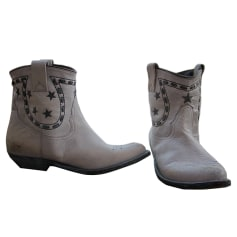 Santiags, bottines, low boots cowboy GOLDEN GOOSE Gris, anthracite